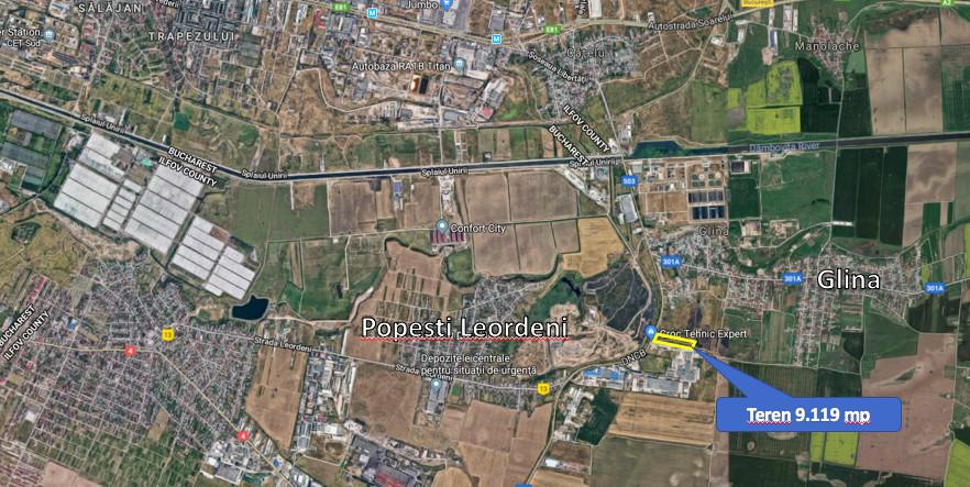 Teren 10.000 mp deschidere la Soseaua de Centura, Popesti-Leordeni